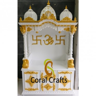 Exclusive Wood Temple with Gold and White Polish