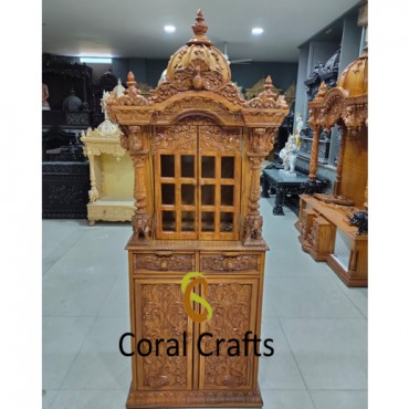 Small Wooden Temple with High Cabinet