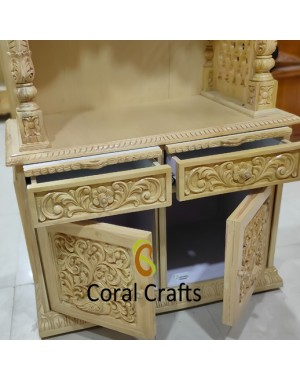 Wooden Temple Drawers and Cabinet
