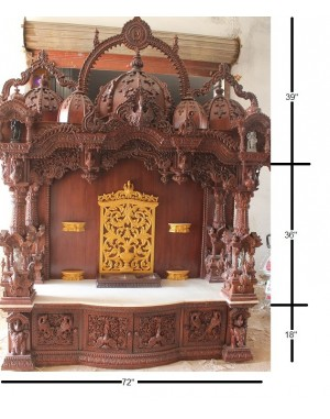 Exquisite Hand Carved Wooden Temple
