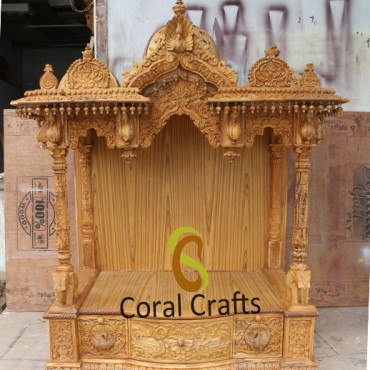 Traditional Wooden Mandir