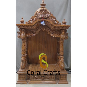 Wall Mounted Temple Wall Mounted Mandir From Wood Coral Crafts