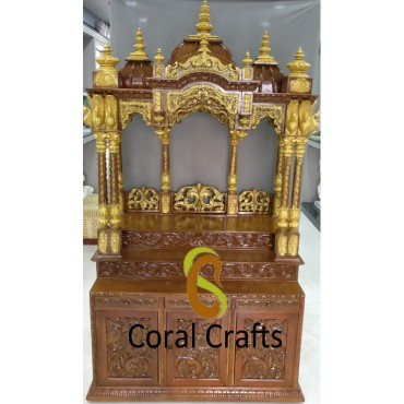 Wooden ISKCON Temple for Home