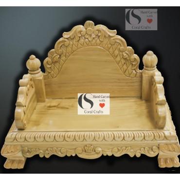 Wooden Mandasana for Pooja