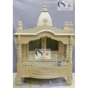 Wooden Pooja Temple Buy Cheap And Beautiful Wooden Mandir For Home