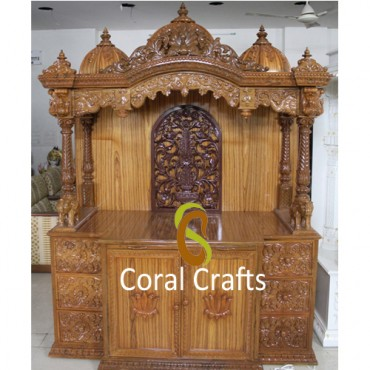 Carved Temple from Teak Wood